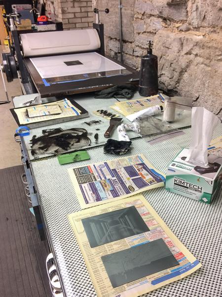Photogravure printing setup for Isolation