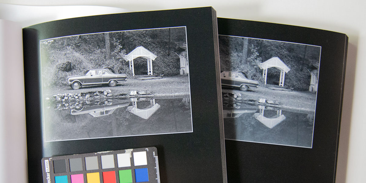Comparison of color shift in printing Beauty in Plain Sight