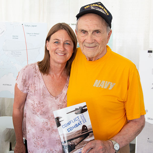 Author Jim McDougall and his daughter Jackie Seeman
