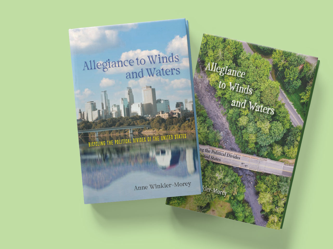 Two concept covers showing bicycling divides